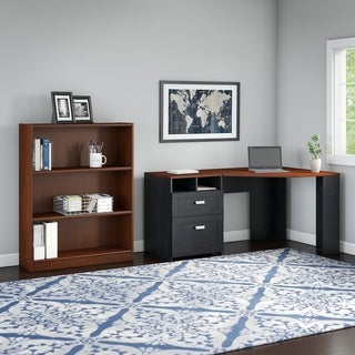 Wheaton Reversible Corner Desk with Bookcase