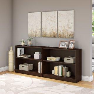 Universal Mocha Cherry 2-shelf Bookcase (Set of 2)