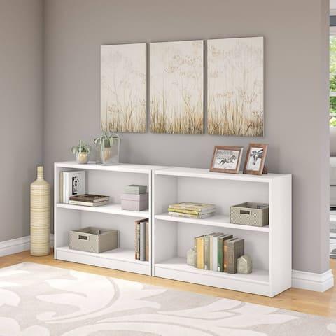 Porch & Den Colony 2-shelf Bookcase Set of 2 in Pure White