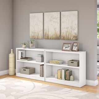 Universal 2 Shelf Bookcase Set of 2 in Pure White