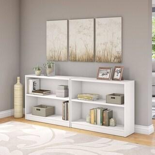Porch & Den Colony White 2-shelf Bookcase (Set of 2)