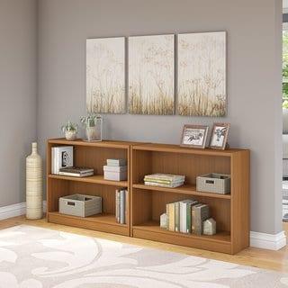 Universal Royal Oak 2-shelf Bookcase (Set of 2)