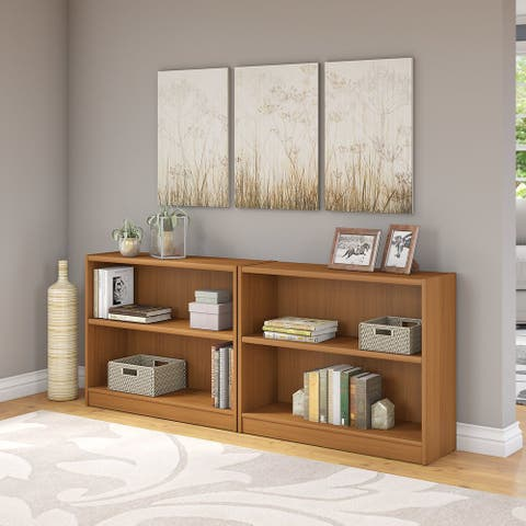 "Porch & Den Colony Royal Oak 2-shelf Bookcase (Set of 2) - 36.97""L x 12.00""W x 30.00""H"