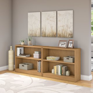 Universal Snow Maple 2-shelf Bookcase (Set of 2)