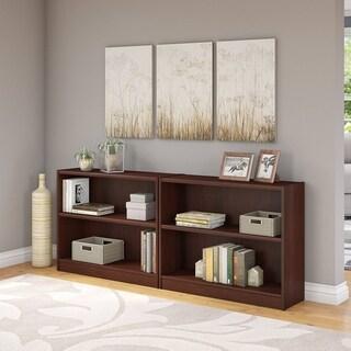 Universal 2 Shelf Bookcase Set of 2 in Vogue Cherry