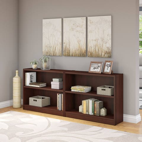 Porch & Den Colony Vogue Cherry 2-shelf Bookcase (Set of 2)