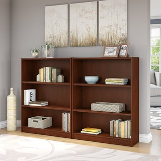 Universal Hansen Cherry 3-shelf Bookcase (Set of 2)