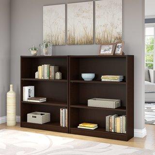 Universal Mocha Cherry 3-shelf Bookcase (Set of 2)