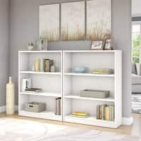 Porch & Den Colony Pure White 3-shelf Bookcase (Set of 2)