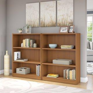 Universal Royal Oak 3-shelf Bookcase (Set of 2)