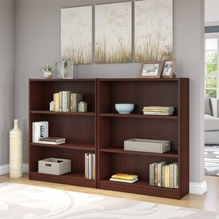 Universal 3 Shelf Bookcase Set of 2 in Vogue Cherry
