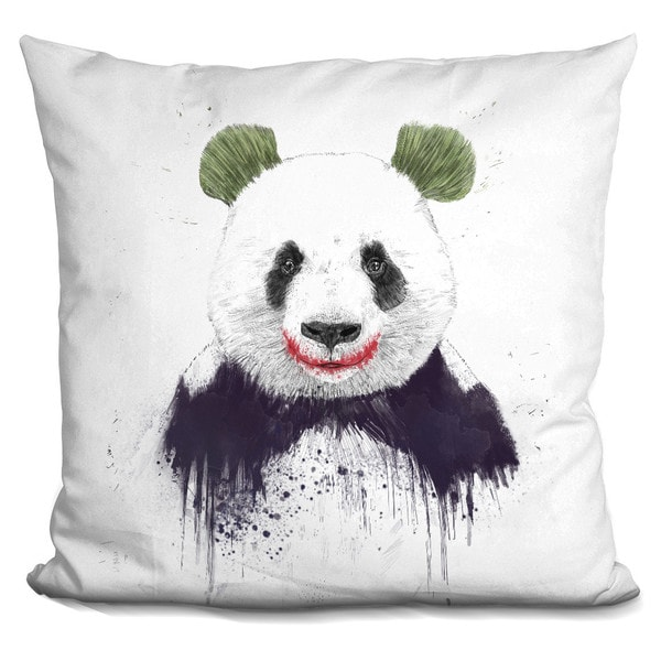 Balazs Solti 'My head is a jungle' Throw Pillow