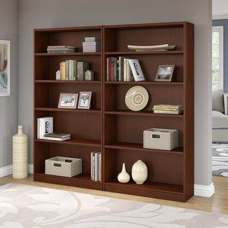 Universal 5 Shelf Bookcase Set of 2