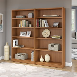 Universal Royal Oak 5-shelf Bookcase (Set of 2)