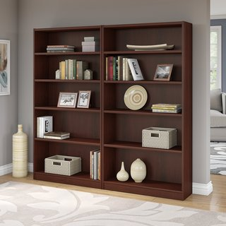 Universal Vogue Cherry 5-shelf Bookcase (Set of 2)