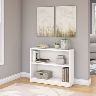 Porch & Den Colony White 2-shelf Bookcase
