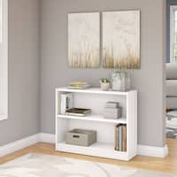 Universal 2 Shelf Bookcase in Pure White
