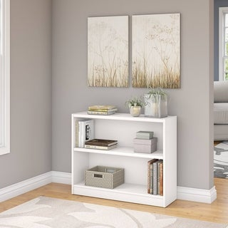 """Porch & Den Colony White 2-shelf Bookcase - 36.93""""L x 11.69""""W x 29.92""""H"""