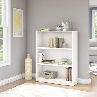 Universal Pure White 3-shelf Bookcase