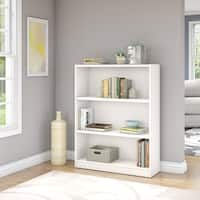 Porch & Den Colony Pure White 3-shelf Bookcase