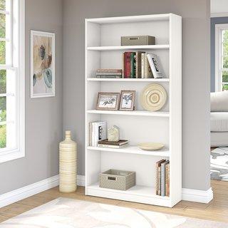 Universal Pure White 5-shelf Bookcase