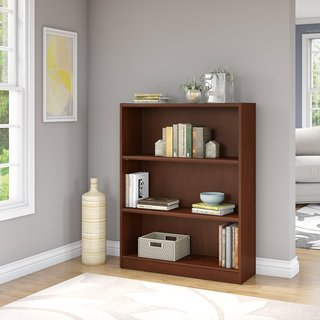 Bush Furniture Universal Cherry-finished Wood 3-shelf Bookcase