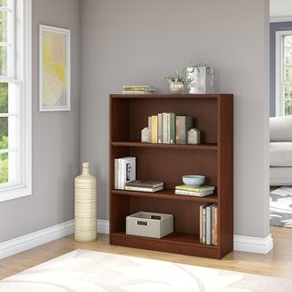Porch & Den Colony Furniture Cherry-finished Wood 3-shelf Bookcase