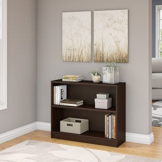 Universal Mocha Cherry 2-shelf Bookcase