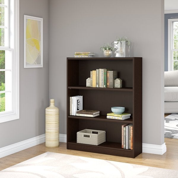 Shop Universal Mocha Cherry 3-shelf Bookcase - Free ...