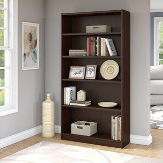 Universal Mocha Cherry 5-shelf Bookcase