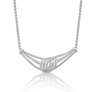 1/10 CTTW Diamond Necklace In Sterling Silver (I-J, I2-I3) - White I-J