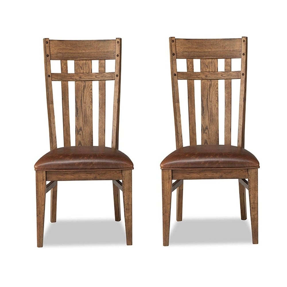 Super River Weathered Saddle Lattice Back Dining Chair 2 Pack Machost Co Dining Chair Design Ideas Machostcouk