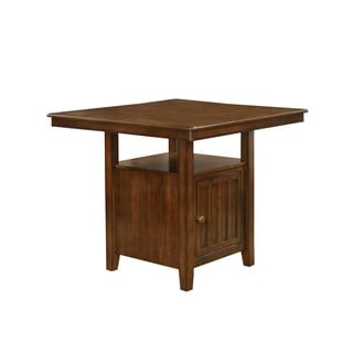 Nathaniel Home Walnut Finish Solid Wood Counter-height Table with Storage