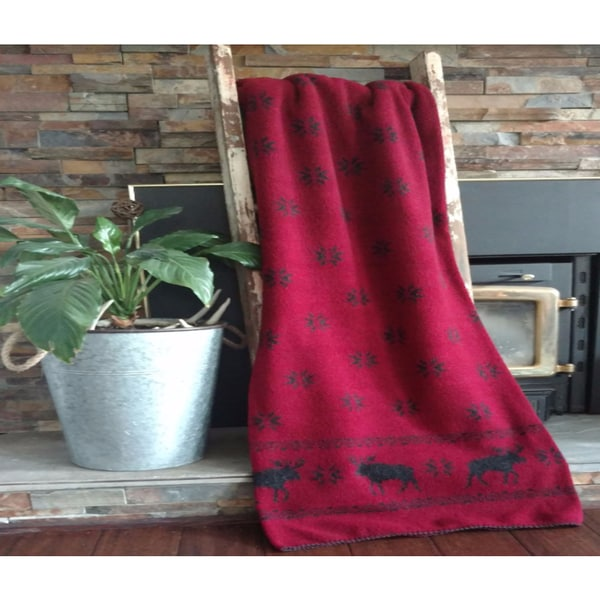 Mazmania Moose Looped Wool Throw