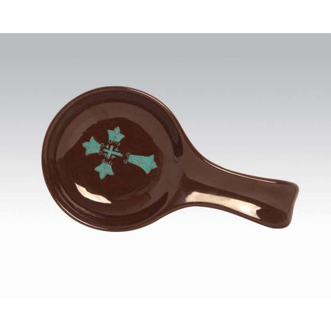 HiEnd Accents Cross Spoon Rest Turquoise