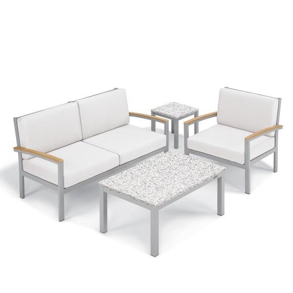Shop Oxford Garden Travira 4-Piece Seat & Lite-Core ... on Safavieh Outdoor Living Granton 5 Pc Living Set id=18297