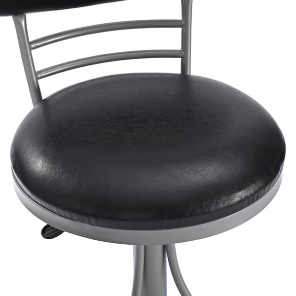 Incredible Jasper Platinum Metal Swivel Counter Stool With Black Cushion Andrewgaddart Wooden Chair Designs For Living Room Andrewgaddartcom