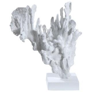 Gold Eagle White Resin 18-inch Coral Figurine