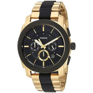 Fossil Men's FS5261 'Machine' Chronograph Two-Tone Stainless steel and Silicone Watch