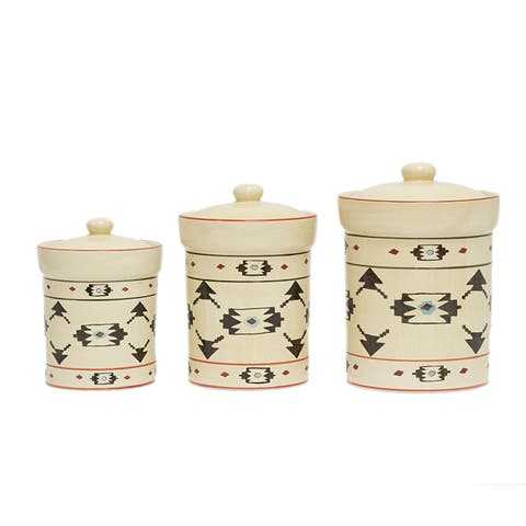 HiEnd Accents Artisia Ceramic 3-piece Canister Set