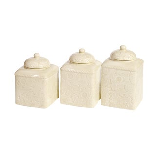 Link to HiEnd Accents Savannah Ceramic Canister Set Similar Items in Kitchen Storage