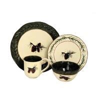 HiEnd Accents 16-Piece Pine Cone Dinnerware Set