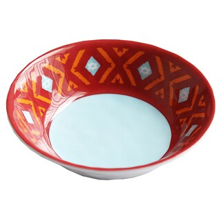 HiEnd Accents Southwest Melamine Bowl 4-Piece S 7.5