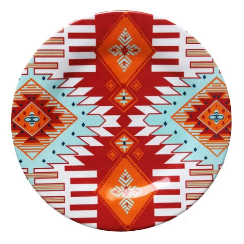 HiEnd Accents Southwest Melamine 10.5-inch Dinner Plate (Set of 4)