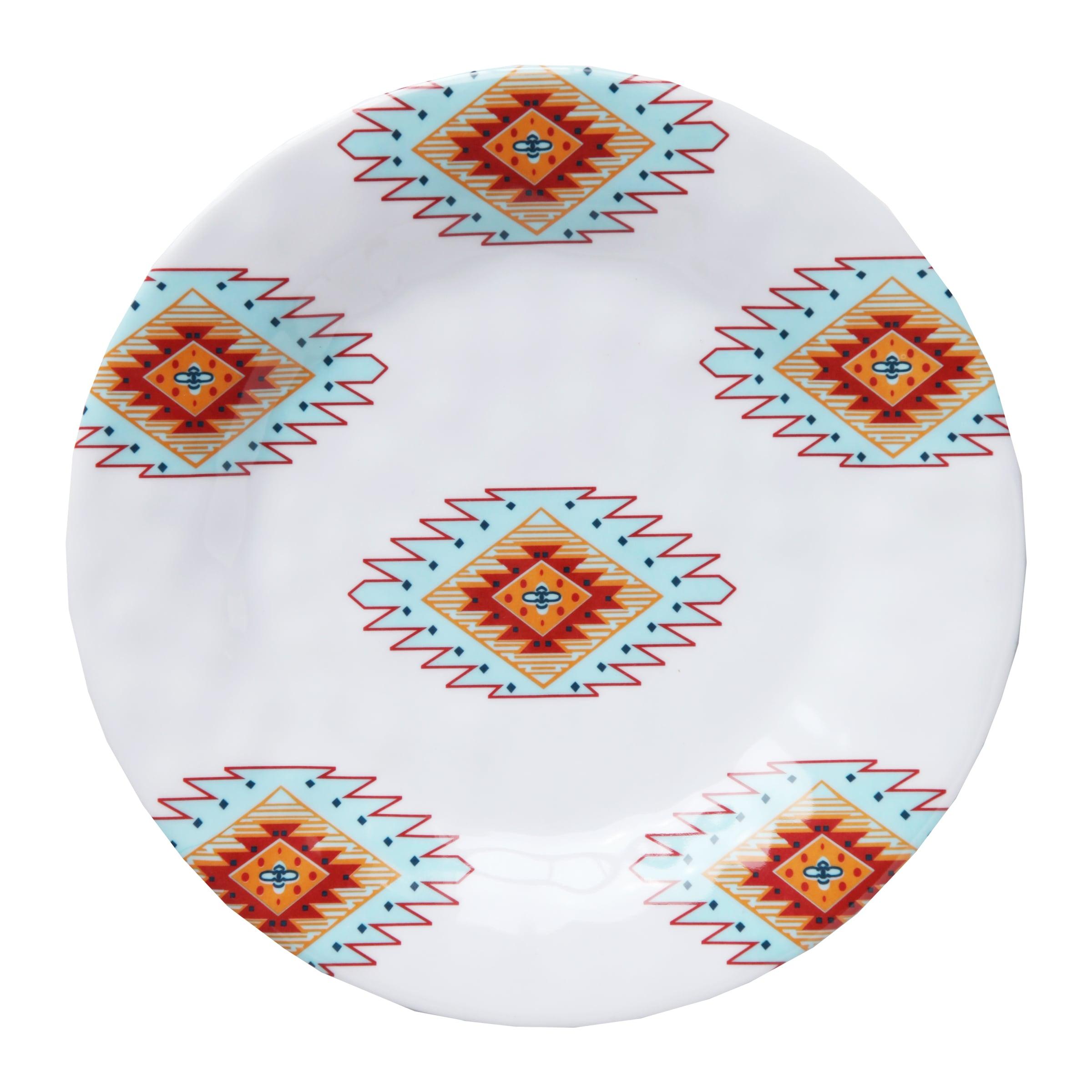 HiEnd Accents Southwest Melamine Salad Plate 4-Piece S 8....