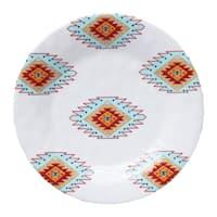 HiEnd Accents Southwest Melamine Salad Plate 4-Piece S 8.5