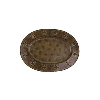 HiEnd Accents Star Iron Oval Tray 22.5 (Ea)