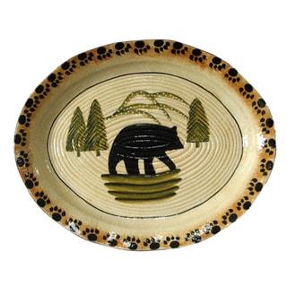 HiEnd Accents Ceramic Bear Serving Platter