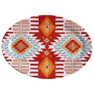 HiEnd Accents Southwest Melamine Serving Platter 1-Piece 20