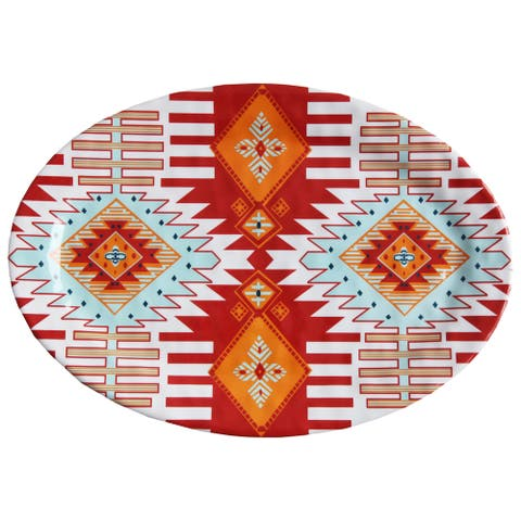 HiEnd Accents Southwest Multicolor Melamine 12-piece Serving Platter (Case of 20)